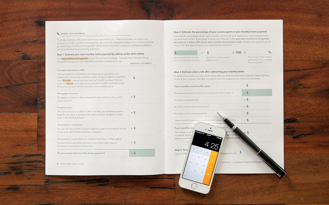 The new toolkit features a two-page worksheet to help consumers calculate what they can afford.